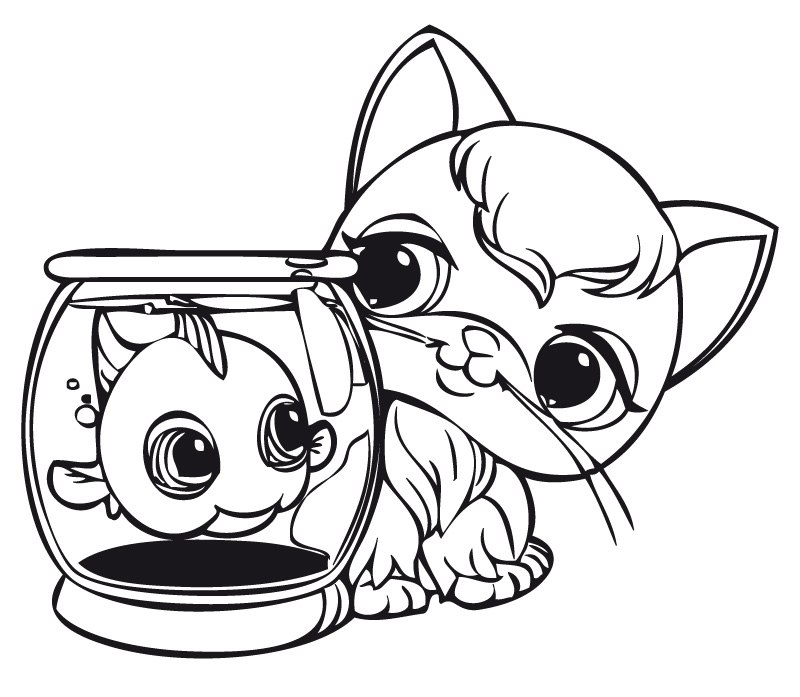 800x697 Fancy Plush Design Littlest Pet Shop Coloring Pages For Kids Free