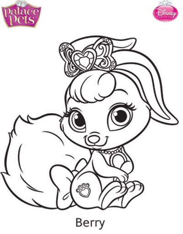595x759 Charming Palace Pets Coloring Pages Printable For Beatiful Palace