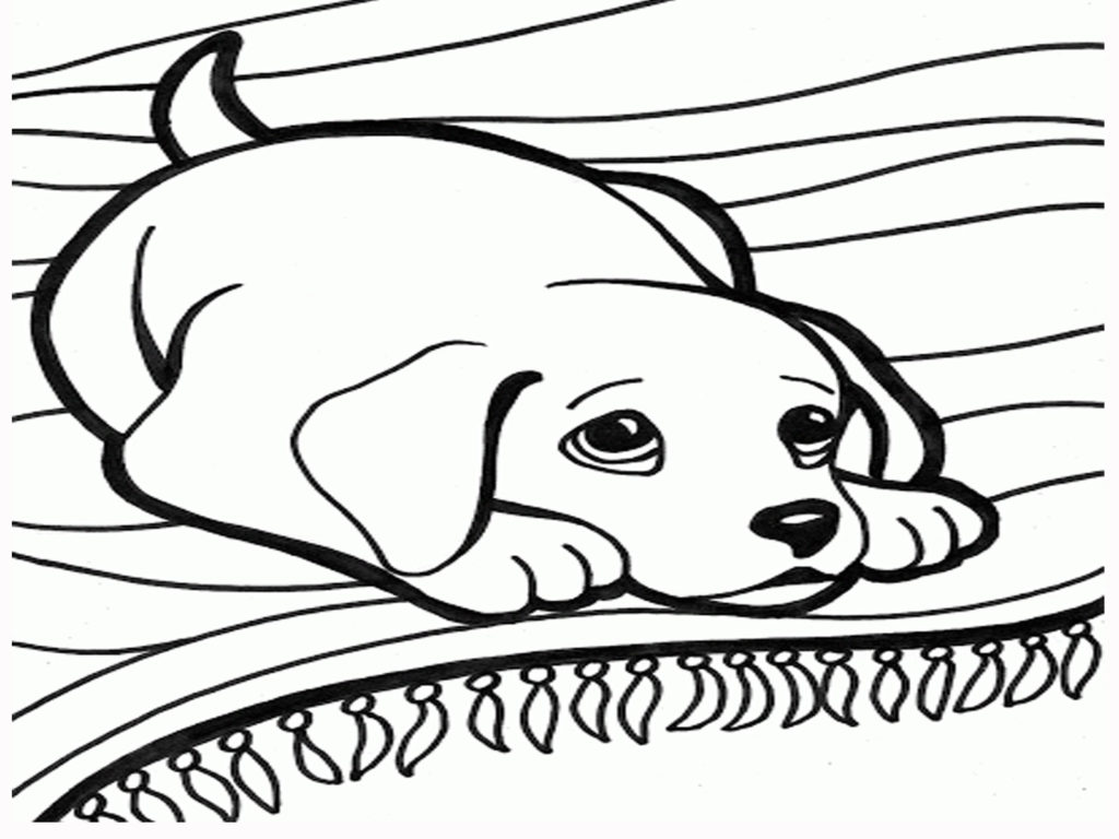 1024x768 Dog Coloring Pages Free Printable Angeldesign Pictures To Color