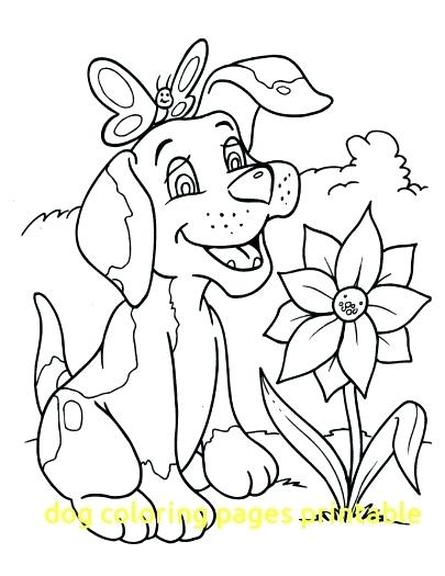 405x525 Dog Coloring Pages Free