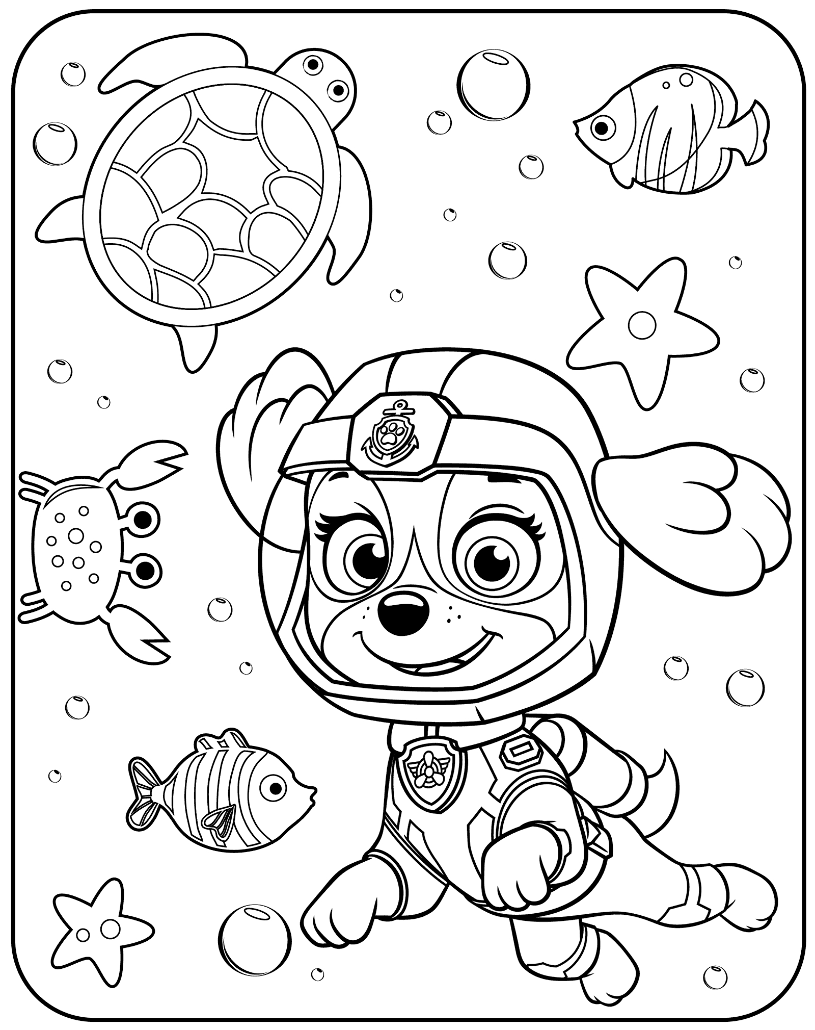 1600x2020 Latest Cb For Paw Patrol Coloring Pages Everest