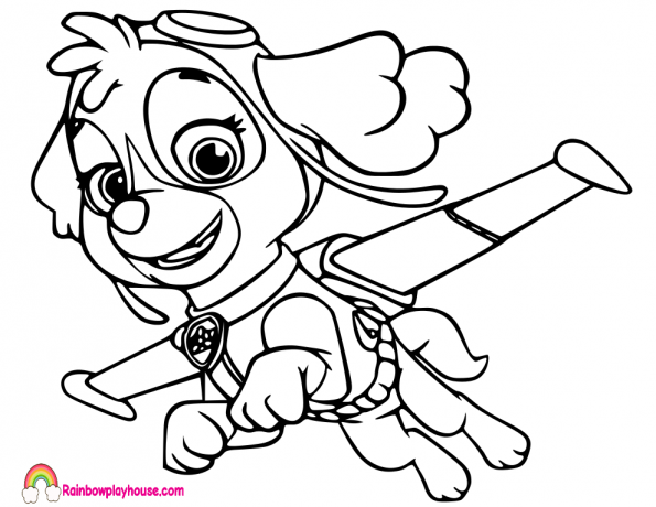 595x460 Paw Patrol Coloring Pages Archives