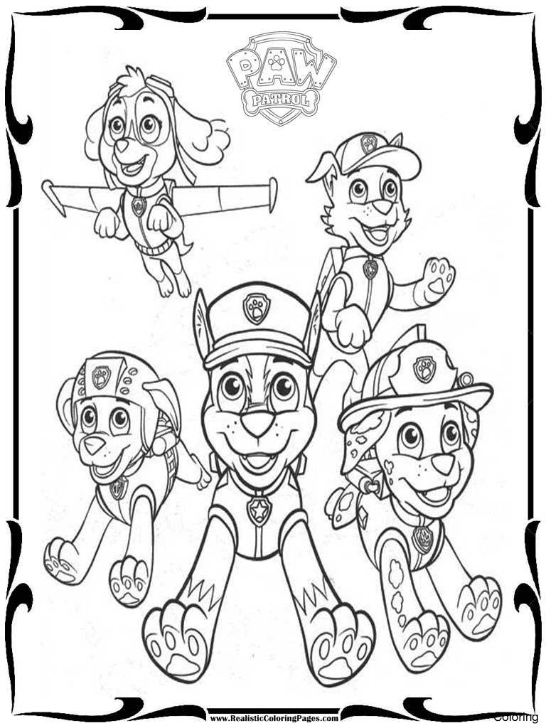 768x1024 Cartoon Character Paw Patrol Coloring Pages Pictures To Print