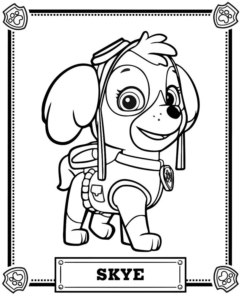 813x1000 Paw Patrol Coloring Pages