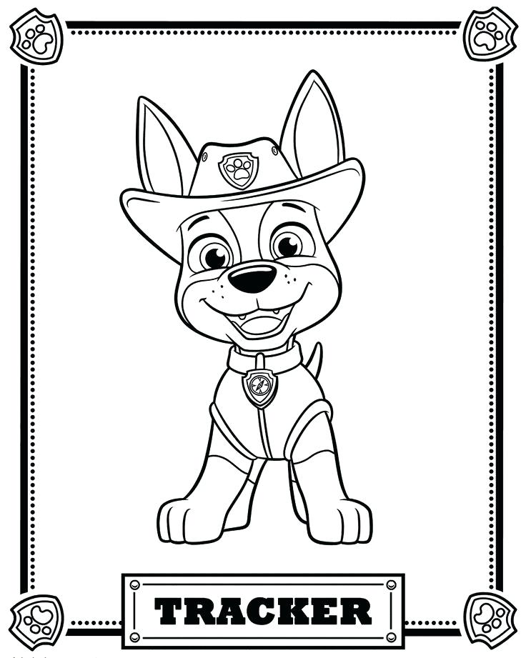 736x921 Paw Patrol Coloring Pages Tracker
