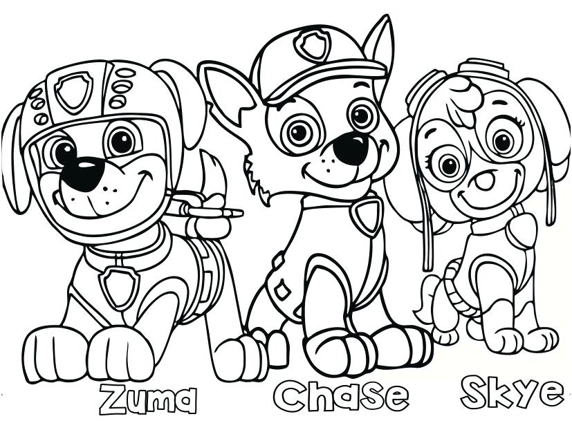 827x609 Paw Patrol Marshall Coloring Page Icontent