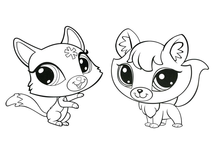 850x567 Littlest Pet Shop Coloring Pages Kittens