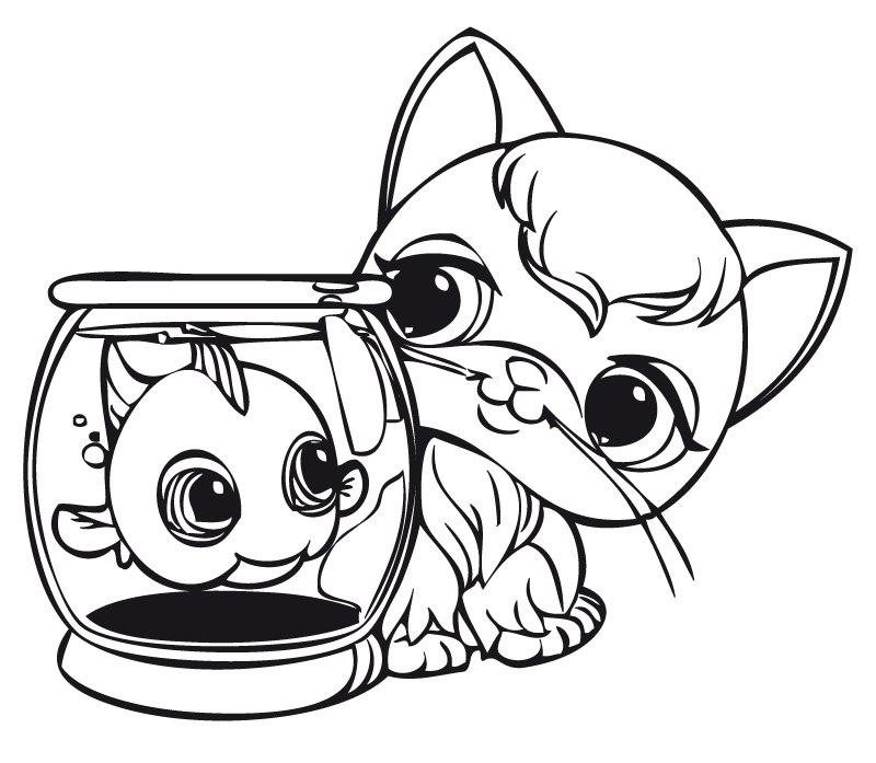 800x697 Littlest Pet Shop Color Pages Popular Coloring Pages Great