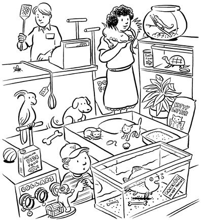 396x432 Pet Store Coloring Pages