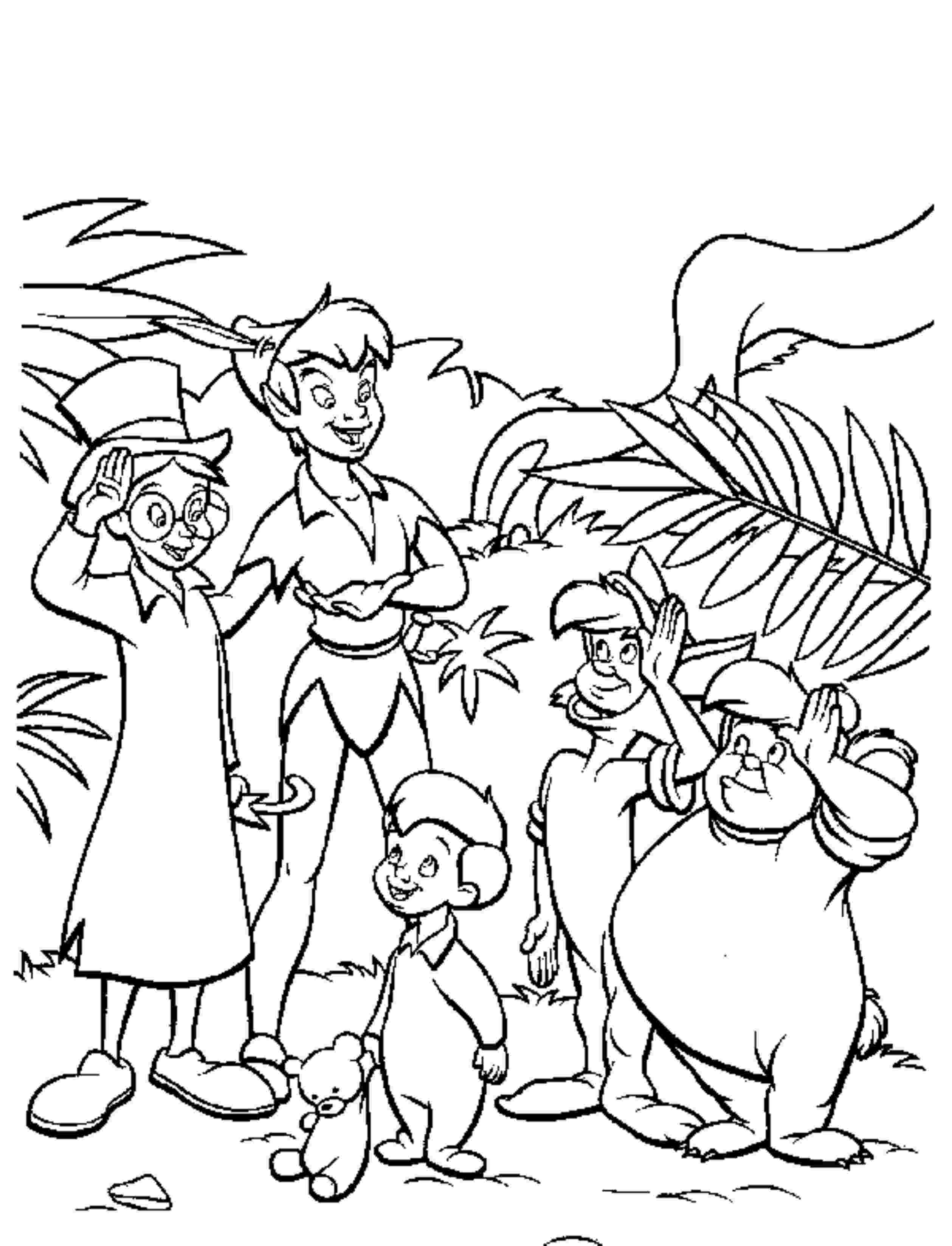 Peter Pan And Tinkerbell Coloring Pages At Getdrawings Com Free