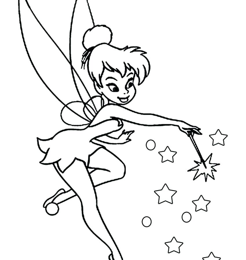 850x900 Tinkerbell Coloring Page Best La Face Images On A Coloring