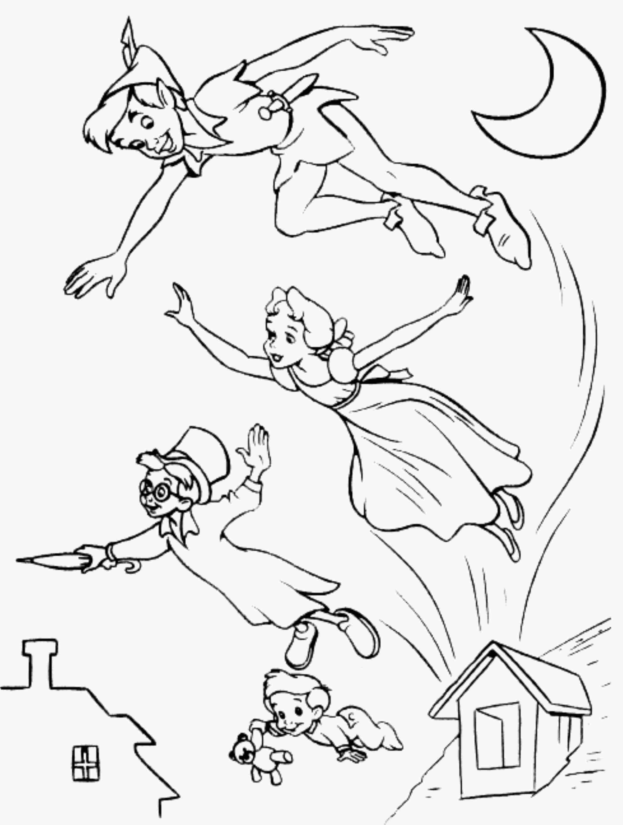 2487x3295 Disney Coloring Pages Peter Pan Printable Coloring For Kids