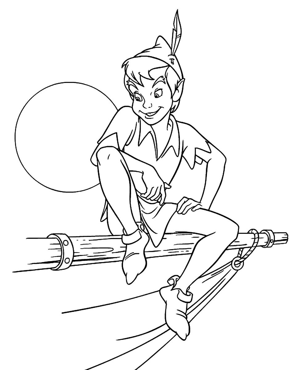 950x1200 Pan Coloring Pages And Tinkerbell Bunch Peter Free General Print
