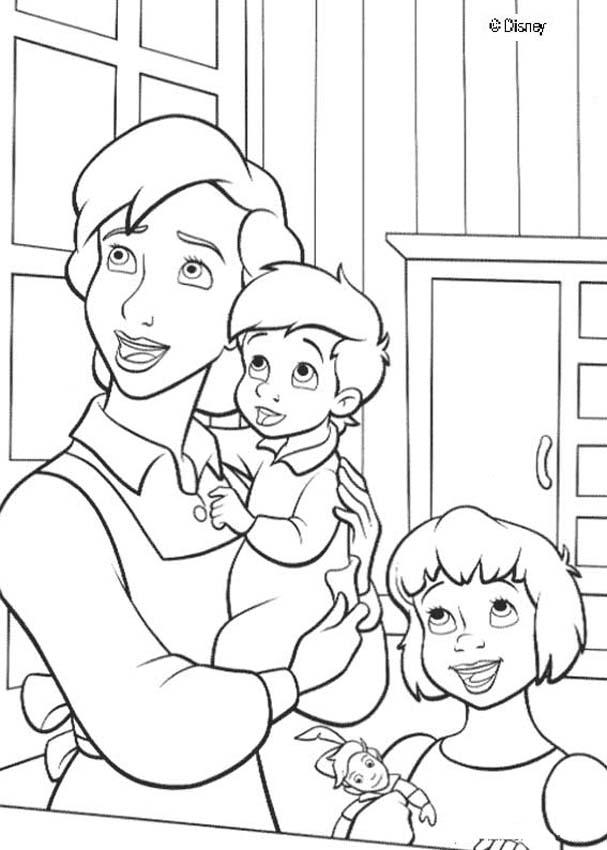 607x850 Darling Family Coloring Pages