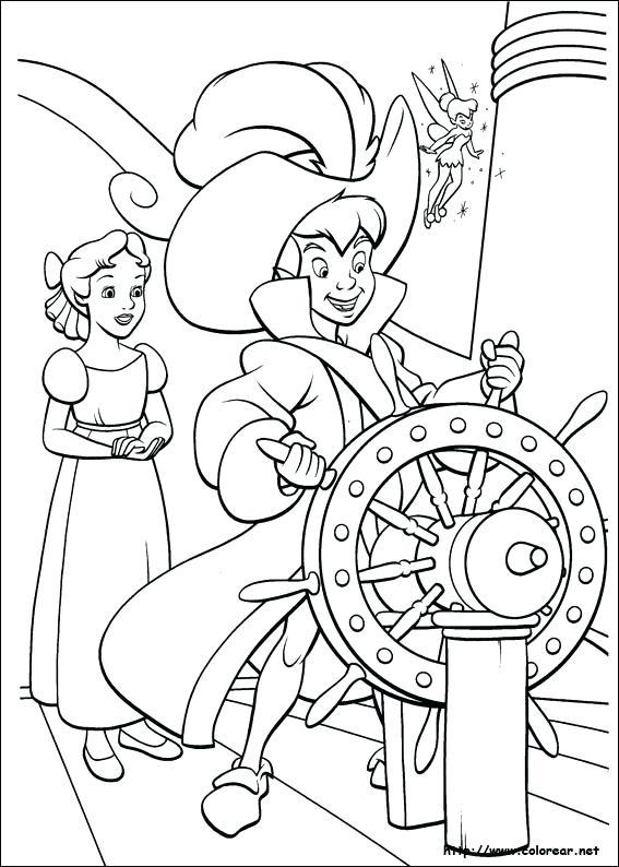 567x794 Disney Coloring Page Peter Pan Coloriage Et Wendy
