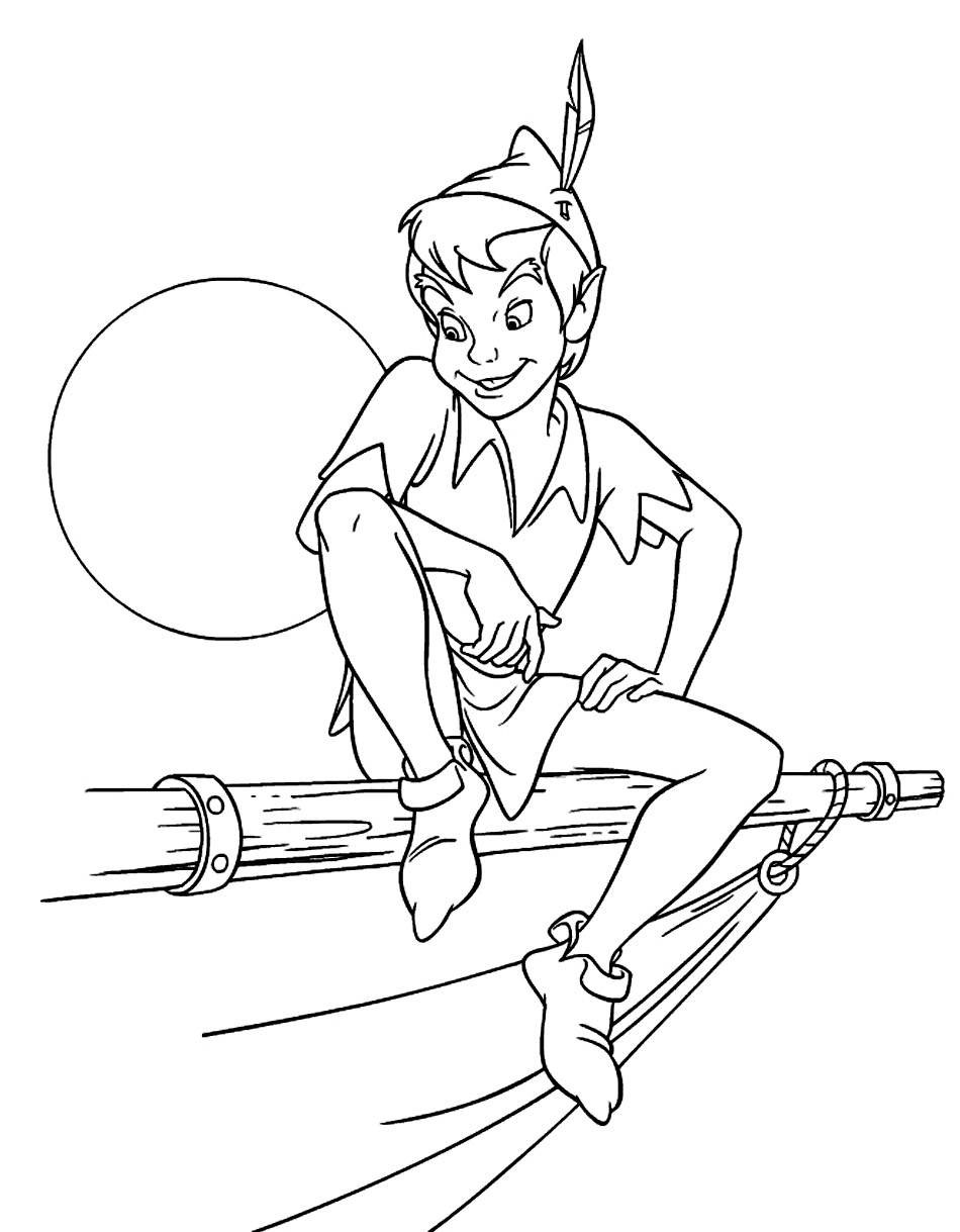 950x1219 Free Printable Peter Pan Coloring Pages For Kids