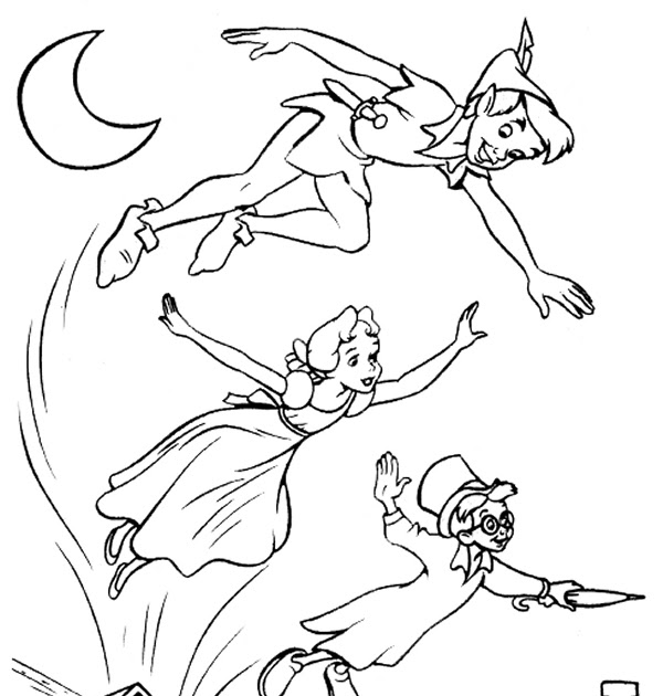 600x630 Coloring Pages Online Peter Pan Coloring Pages