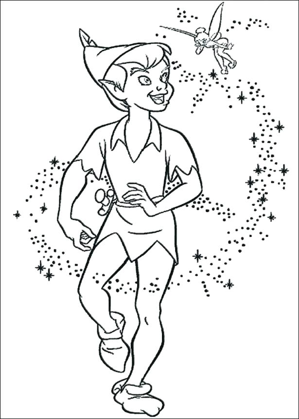 615x861 Peter Pan Coloring Page Peter Pan Coloring Pages Free Tags Candles