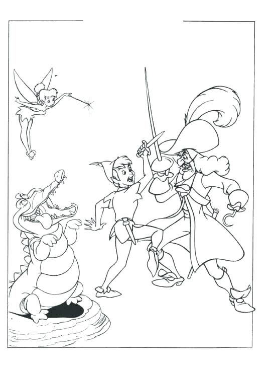 550x733 Peter Pan Coloring Page Pirate Coloring Peter Pan Coloring Pages