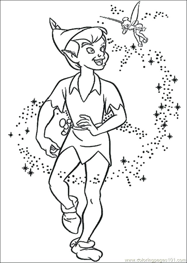 649x910 Peter Pan Coloring Pages Peter Pan Coloring Page Medium Size