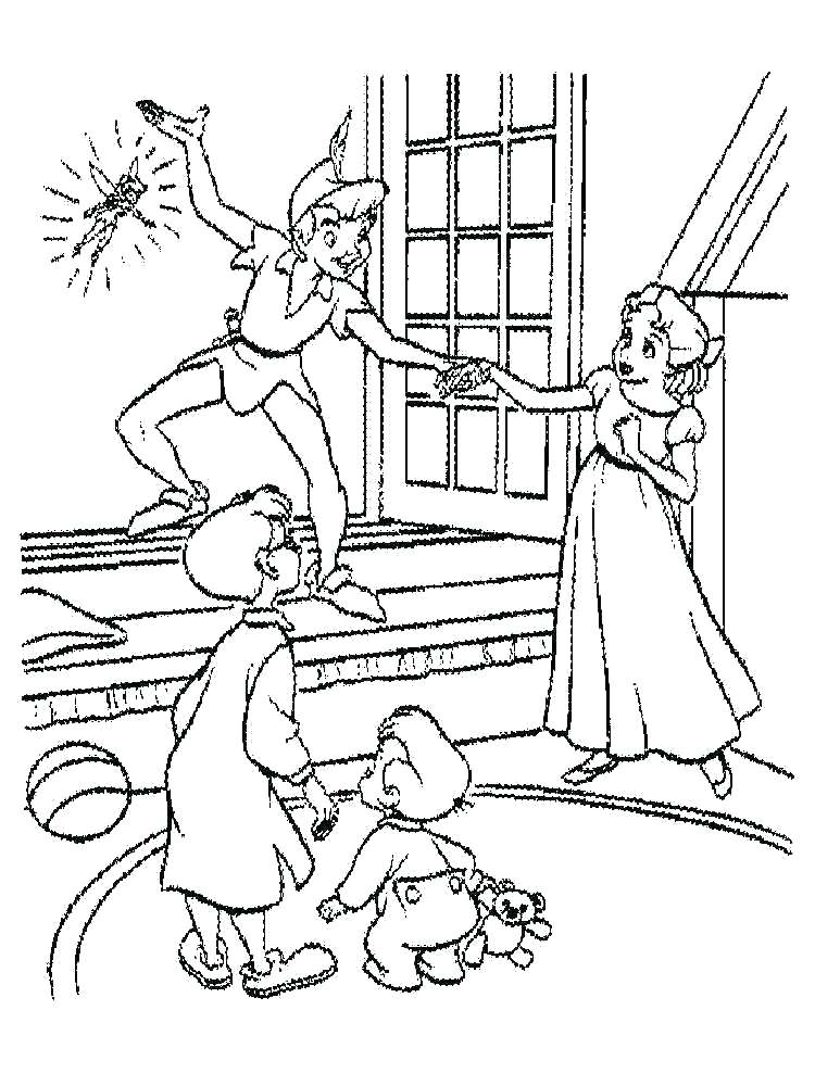 750x1000 Peter Pan Coloring Pages Peter Pan Coloring Pages Peter Pan Flying