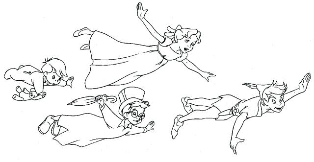 640x331 Peter Pan Coloring Pages Peter Pan Mermaids Colouring Pages Page