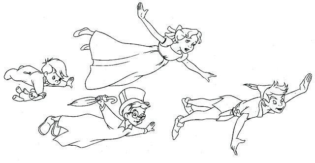 Peter Pan Coloring Pages Printable At Getdrawings Free Download