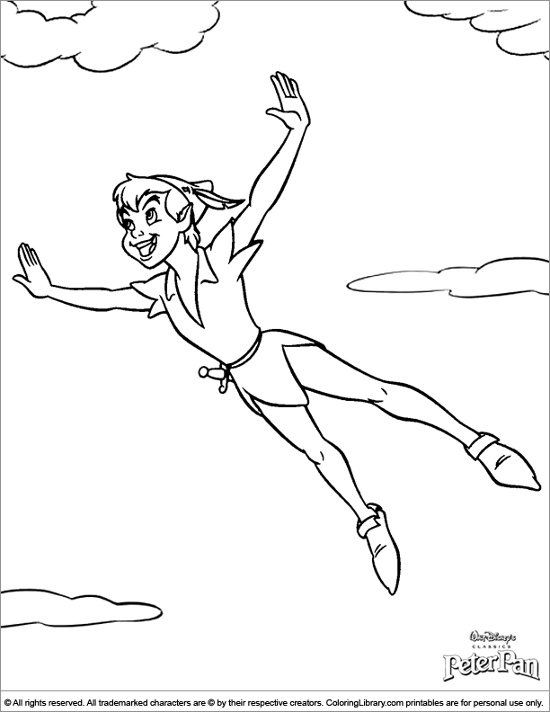 612x792 Peter Pan Coloring Picture