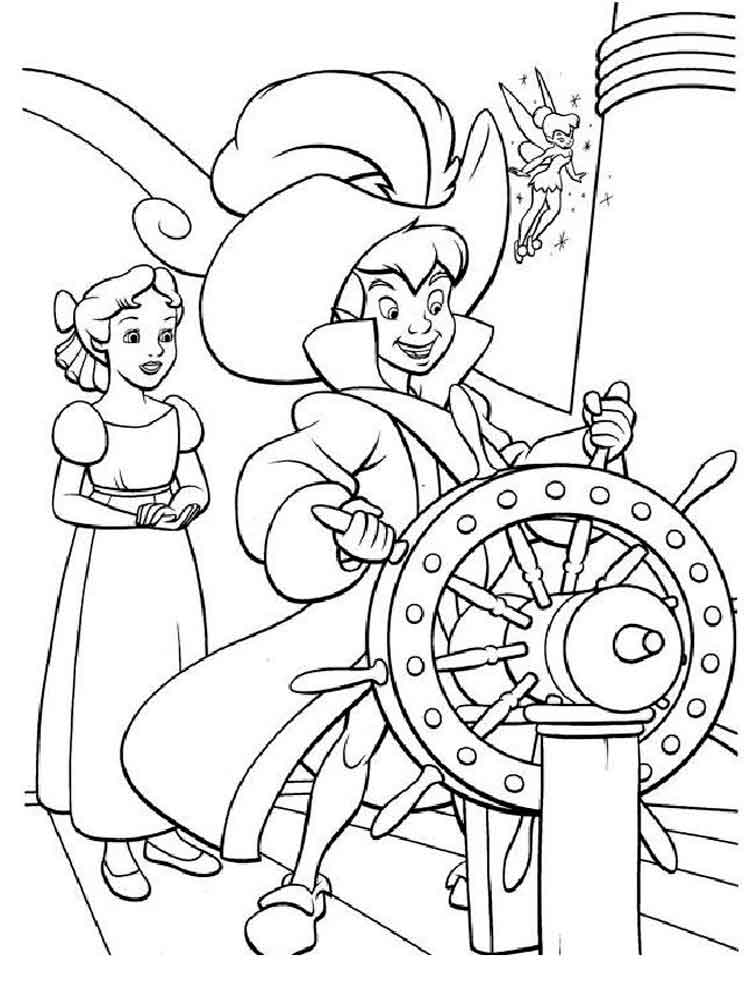 750x1000 Peter Pan Coloring Pages Download And Print Peter Pan Coloring Pages