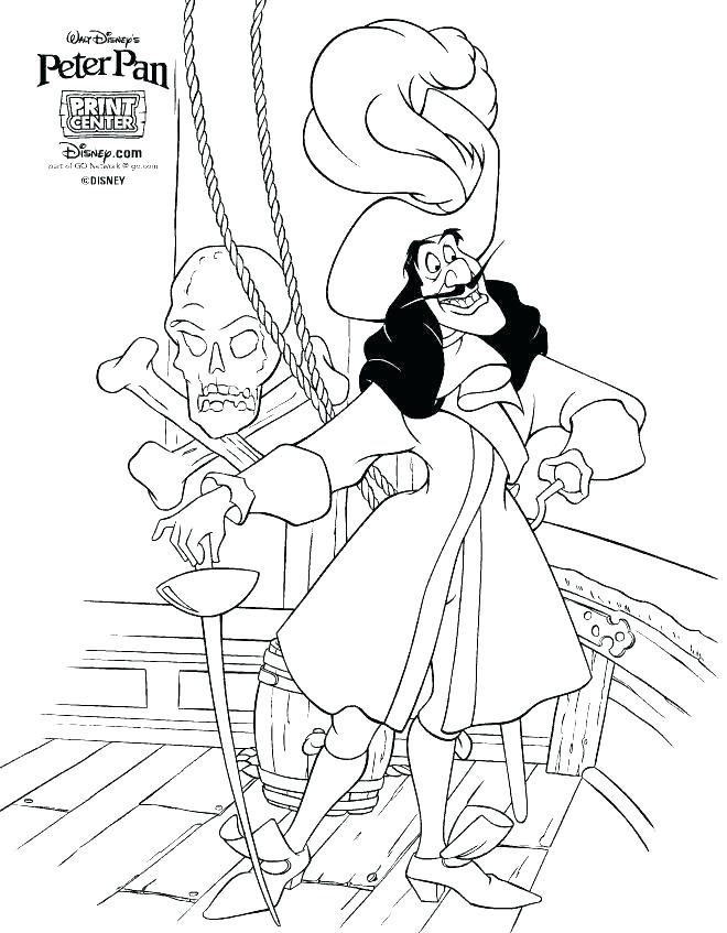 660x847 Peter Pan Coloring Pages Free