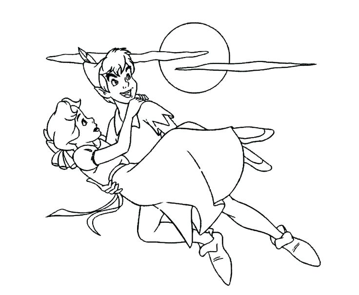 736x605 Peter Pan Colouring Pages Printable