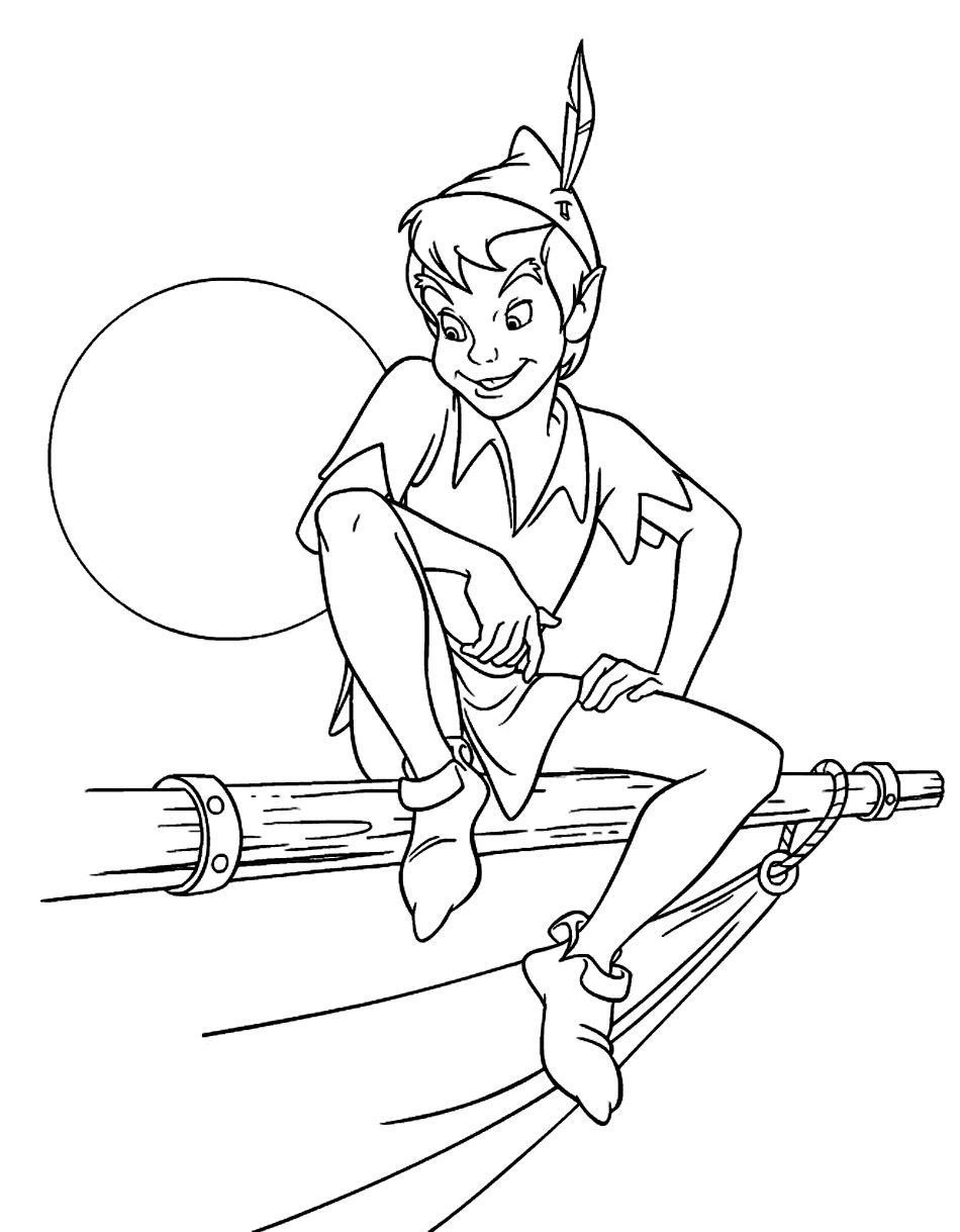 950x1219 Free Printable Peter Pan Coloring Pages For Kids Peter Pans
