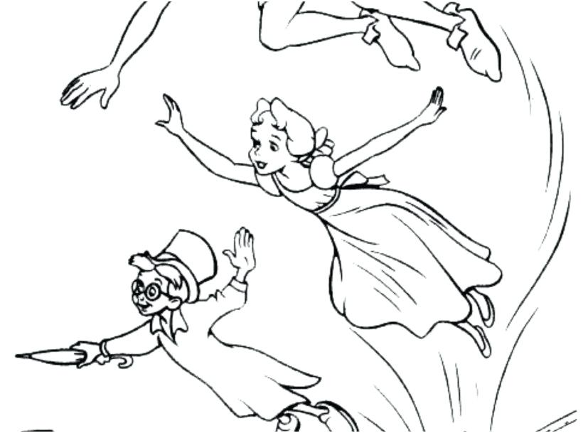 827x609 Peter Pan Coloring Book Peter Pan Coloring Peter Pan Coloring Page