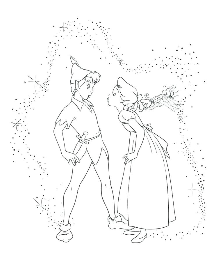 Peter Pan Flying Coloring Pages At Getdrawings Com Free For
