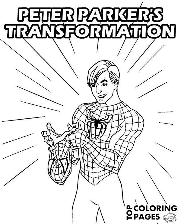 600x740 Peter Parker's Transformation Into Spider Man On Printable