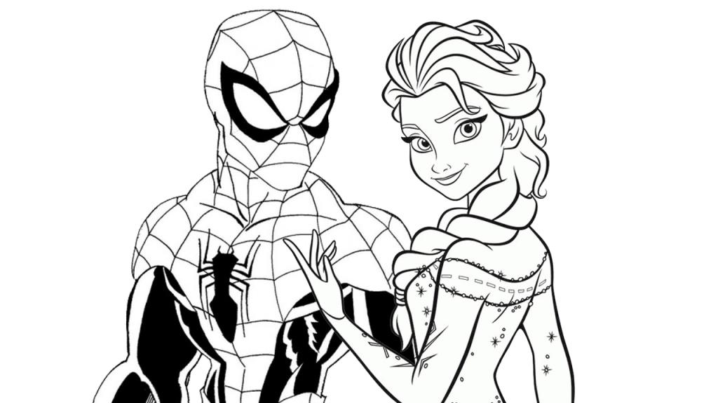 1024x576 Free Printable Spiderman Vs Elsa Coloring Pages