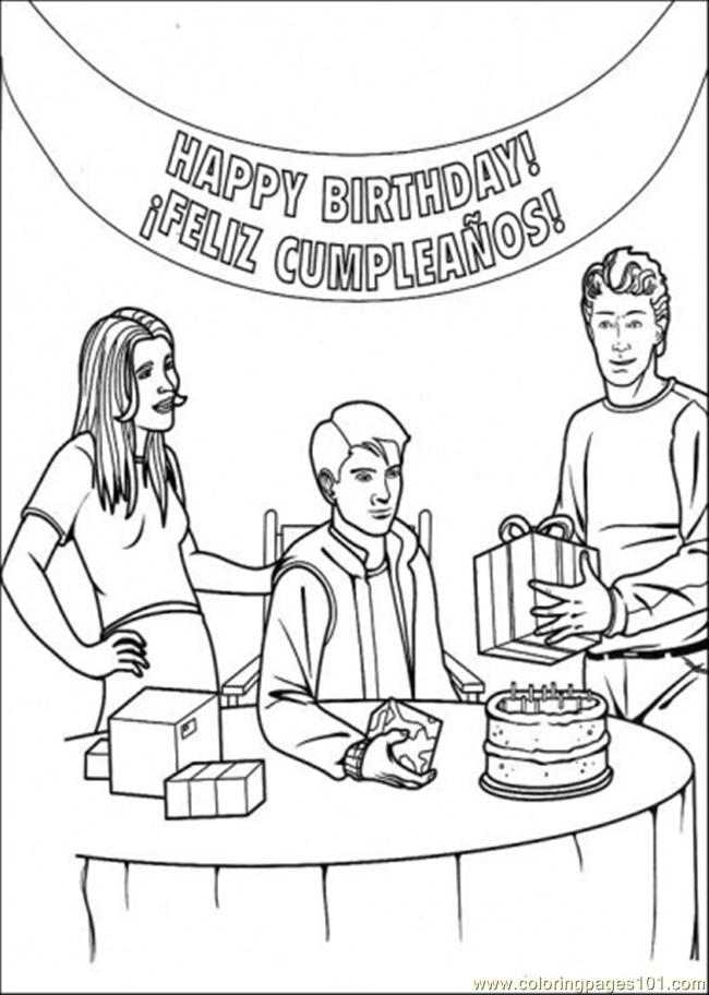 650x912 Happy Birthday Peter Parker Coloring Page