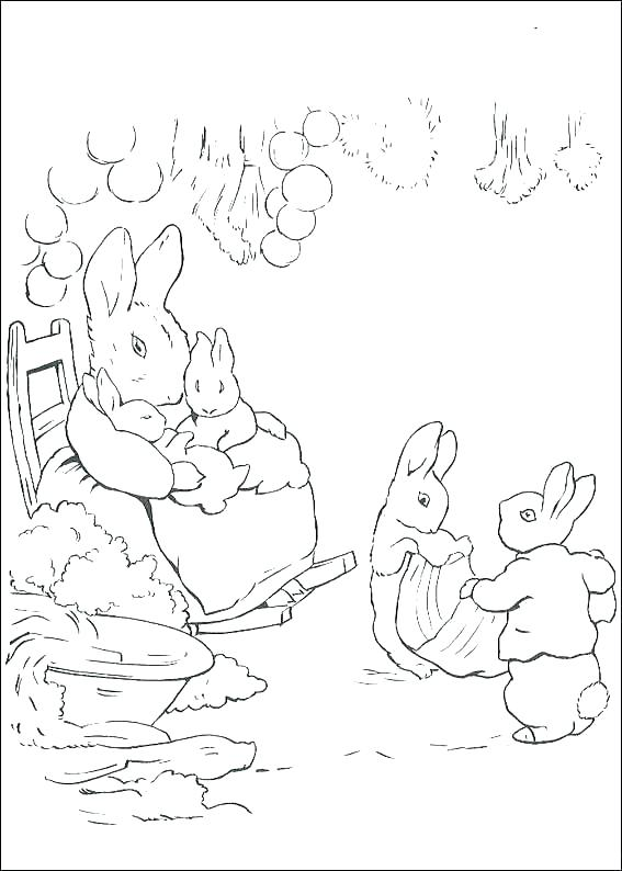 567x794 Peter Rabbit Coloring Pages