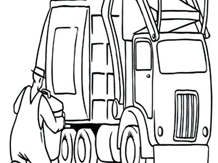 440x330 Top Rated Garbage Truck Coloring Page Images Trash Truck Coloring
