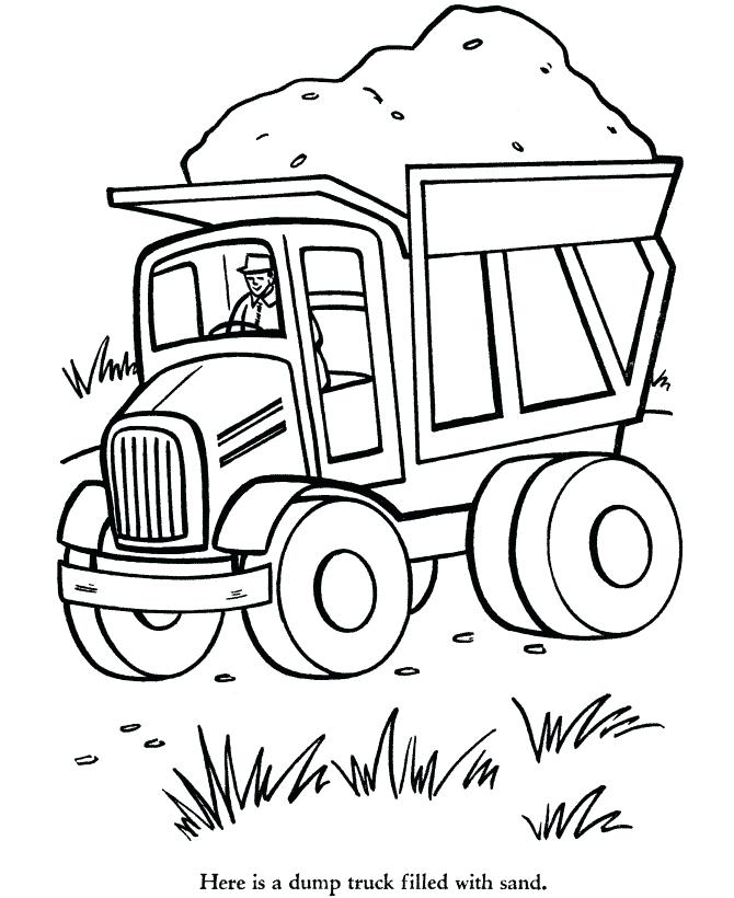 670x820 Dump Truck Coloring Pages Dump Truck Outline Coloring Pages