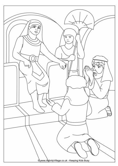 460x650 Joseph And Pharaoh Colouring Page
