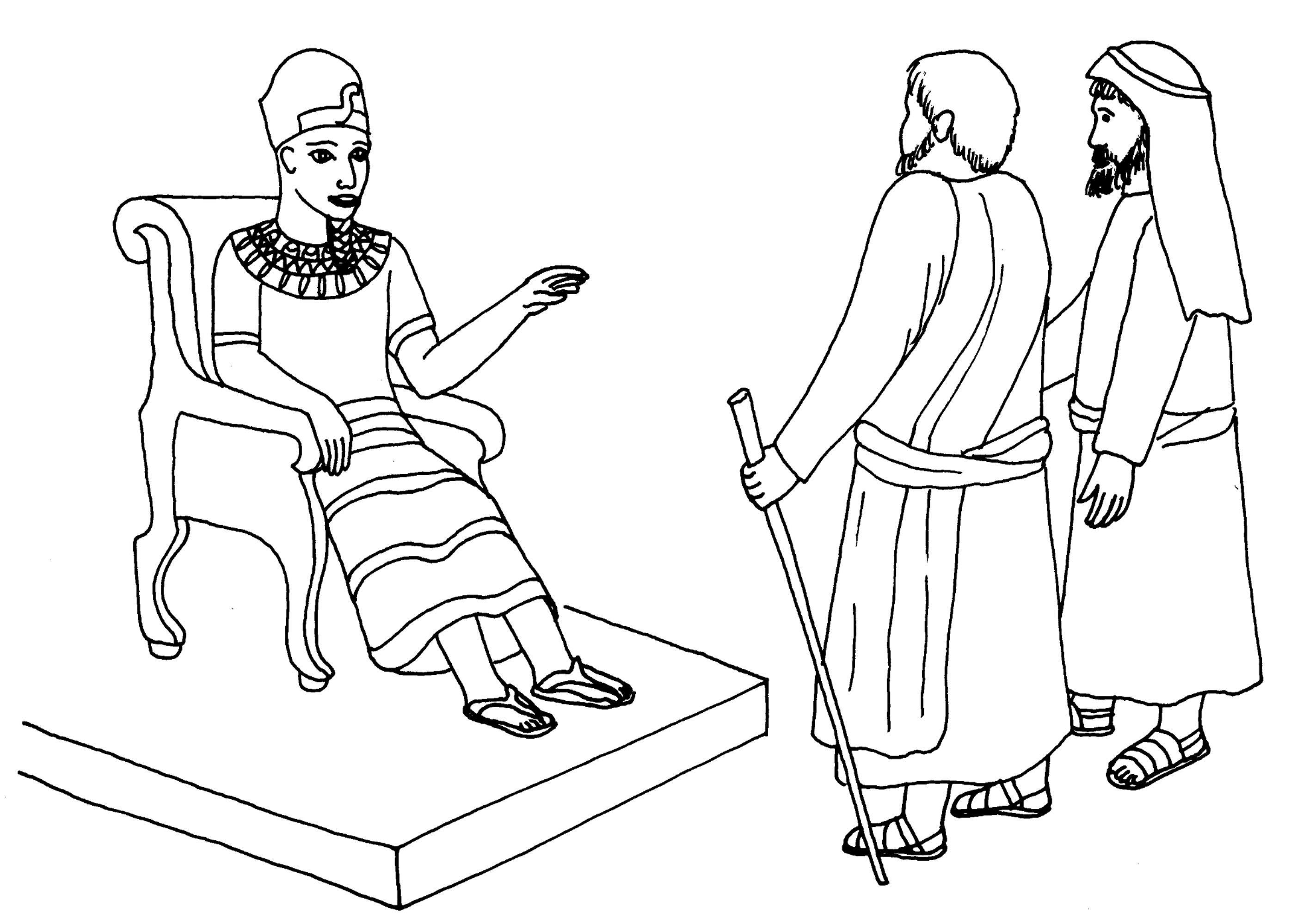 2792x1999 Moses And Aaron Before Pharaoh Coloring Pages Now Sunday Bible