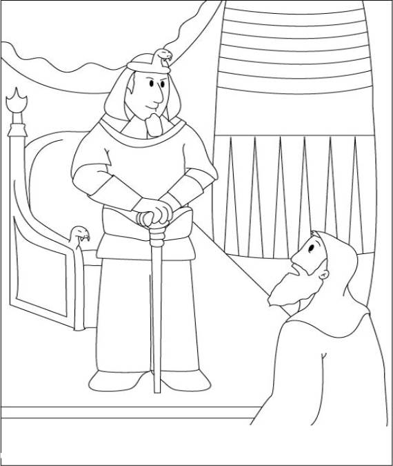 570x675 Moses Coloring Pages