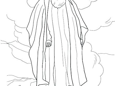 440x330 Moses Coloring Pages Coloring Pages Burning Bush Coloring Page