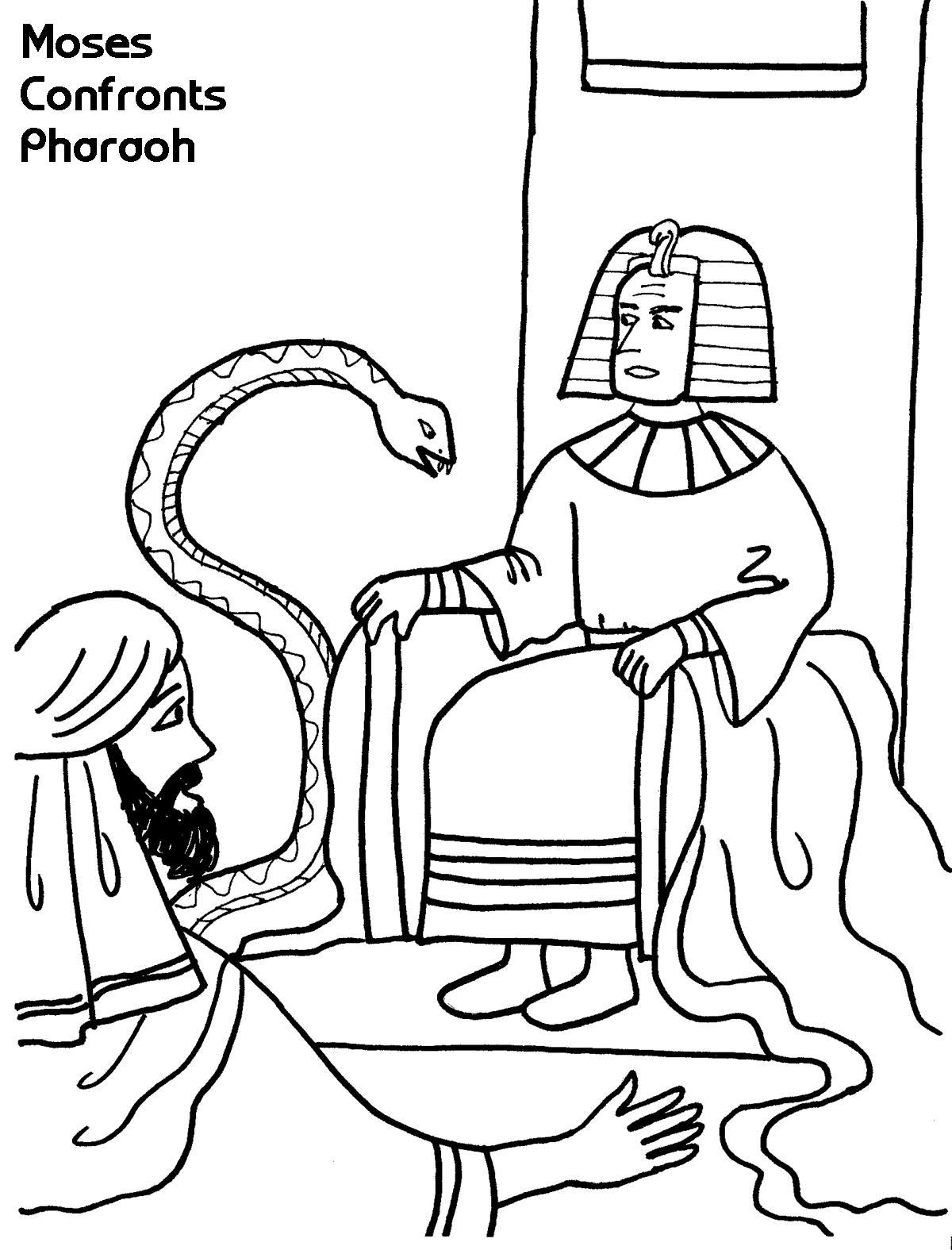 1200x1575 Moses Confronts Pharaoh Coloring Sheet Wesleyan Kids