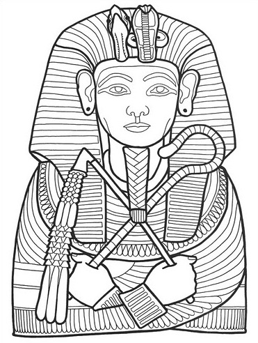 371x492 Pharaoh Coloring Page
