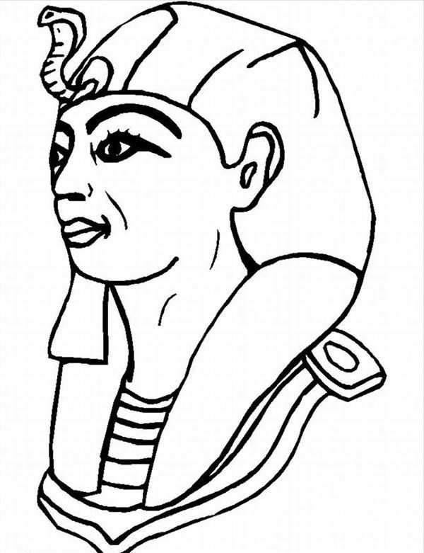 600x781 Pharaoh Coloring Pages A Typical Figure Of Pharaoh From Ancient