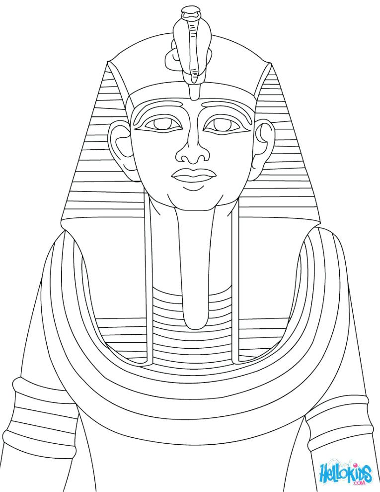 765x989 Pharaoh Coloring Pages Ii Statue For Children King Tuts Tomb Page