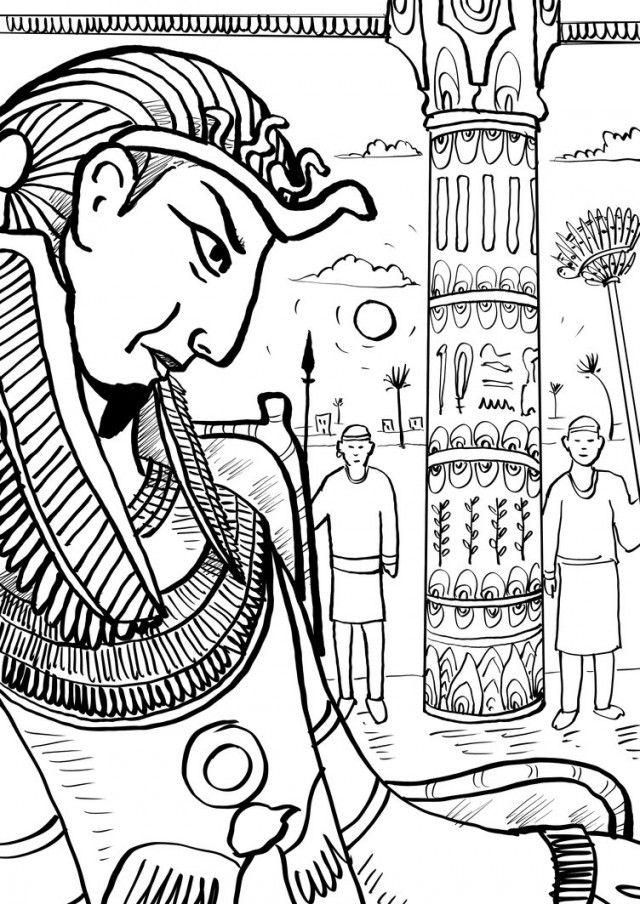 640x904 Pharaoh Coloring Pages Pharaoh Coloring Pages Pharaoh
