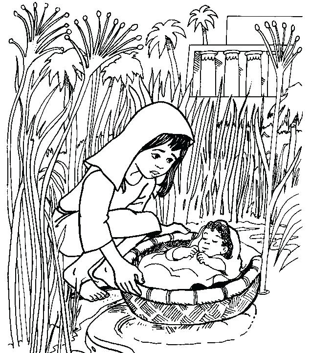 638x722 Baby Moses Coloring Page And Pharaoh Coloring Pages Baby Moses